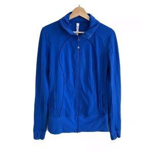 Lululemon Full Zip Blue Jacket Size 8 ** FLAW**